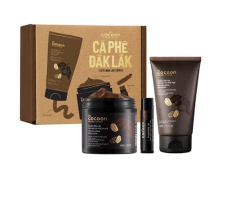 Combo tẩy tế bào chết cà phê Cocoon Đắk Lắk làm sạch da body, mặt và môi