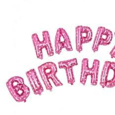 Set 2 rèm kim tuyến BẠC + bộ chữ Happy birthday HỒNG+Bơm+26 bóng trắng hồng + 1 số màu VÀNG tự chọn
