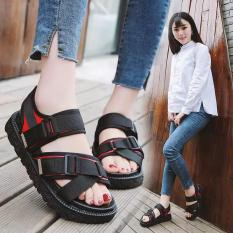 Sandal nữ quai ngang vải dù phối màu (sandal học sinh, sinh viên)