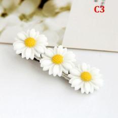 2 dây cột tóc co dãn đính hoa cúc trắng đáng yêu