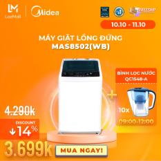 Máy Giặt Lồng Đứng Midea MAS8501 HOẶC MAS8502 8.5kg (Trắng/Xám Bạc) – Thiết kế đơn giản sang trọng – Công suất lớn giặt sạch – Tự vệ sinh lồng giặt – Sấy gió – Hàng Chính Hãng