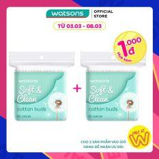 [1000 đ CHO SẢN PHẨM THỨ 2] Tăm Bông Watsons Cotton Buds 80 Que