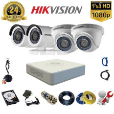 Trọn bộ Camera 4 mắt Hikvision 2.0MP FullHD