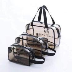 Set 3 túi đựng mỹ phẩm du lịch trong suốt thời trang