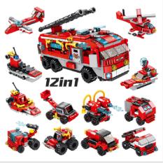 Bộ lắp ráp kiểu lego Panloz City Fire Brigade – xe cứu hỏa thành phố