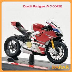 MÔ HÌNH XE MOTO Siêu xe DUCATI Panigale V4 S Corse – MAISTO tỷ lệ 1:18
