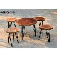 Bộ bàn ghế gỗ xà cừ tự nhiên