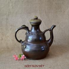 Bình gốm sành dùng để đựng rượu hoặc trang trí decor