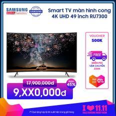 Smart TV Samsung màn hình cong 4K UHD 49inch – Model UA49RU7300KXXV (2019) – Cải tiến màu sắc PurColor + Bộ xử lý hình ảnh 4K UHD HDR + Điều khiển bằng điện thoại – Hàng phân phối chính hãng