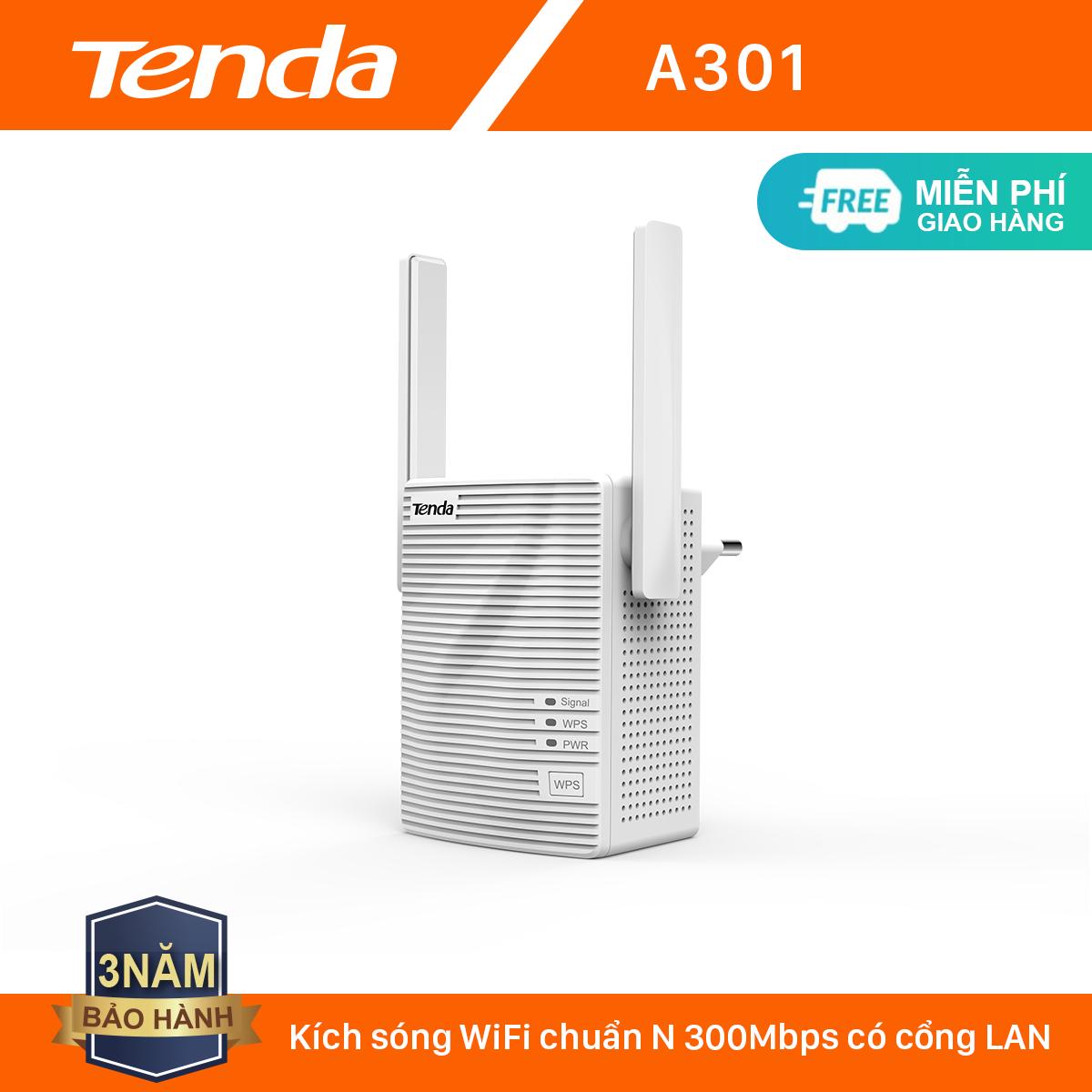 Tenda Bộ kích sóng Wifi A301 Chuẩn N 300Mbps – Hãng phân phối chính thức