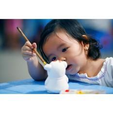 Bộ đồ chơi tô tượng cho bé (10 tượng thạch cao Bát Tràng tặng kèm hộp màu )