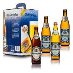 Combo 4 chai Bia Đức Weihenstephan (2 chai Hefe Weissbier – 1 chai Kristall WeissbierHefe – 1 chai HefeWeissbier Dunkel) – Weihenstephan (500ml/ Chai)