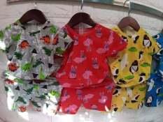 combo 5 bộ cotton hình, bộ đồ đẹp cho bé trai bé gái, bộ đồ mặc mát cho bé