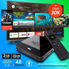 Android TV BOX, tivi box RAM 2G, Bộ nhớ 16G, xem phim 4K, chơi game, hỗ trợ tính năng tìm kiếm bằng giọng nói chưa bao gồm remote giọng nói, bảo hành 12 tháng H96MINIH8