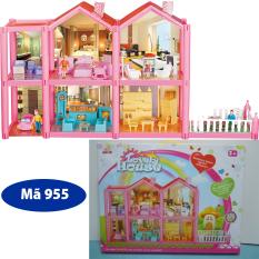 Mô hình nhà búp bê cỡ lớn cho các bé chơi đồ chơi Barbie chất liệu nhựa an toàn cho bé đảm bảo tiêu chuẩn vệ sinh