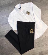 Combo(1 Quần + 1 Áo ) Quần Tây Áo Sơ Mi Nam Nữ Cao cấp, áo sơ mi học sinh – Phong cách hàn quốc