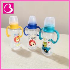 Bình sữa cổ chuẩn Babuu Baby Nhật Bản kèm tay cầm 120ml & 240ml cho bé