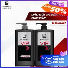 Combo Dầu gội và Sữa tắm cao cấp Romano Vip sang trọng đẳng cấp 650gr