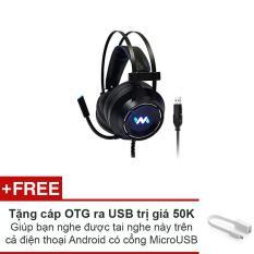 Tai nghe chơi game Wangming WM9800 giả lập 7.1 USB (đen)