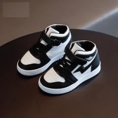 Giày bốt bé trai, gái SNEAKER vạch tia sét đen trắng CG47