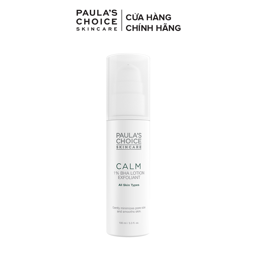 Lotion tẩy da chết dịu nhẹ phù hợp cho da nhạy cảm Paula's Choice Calm Redness Relief 1% BHA Lotion Exfoliant 9100