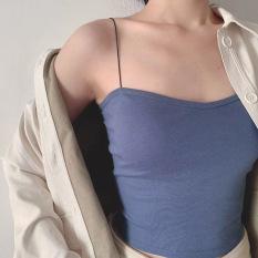 Áo dây thun co giãn nhiều màu kết hợp cùng vest, áo khoác nhẹ