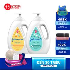 Bộ 2 chai Sữa tắm sữa & gạo Johnsons Milk Rice + Sữa tắm sữa & yến mạch Johnsons Milk Oats 1000ml x 2 – 540018227 – Giới hạn 5 sản phẩm/khách hàng