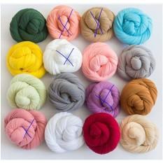 vải quấn bé cotton co giãn 40*170cm các màu cho các bé newborn