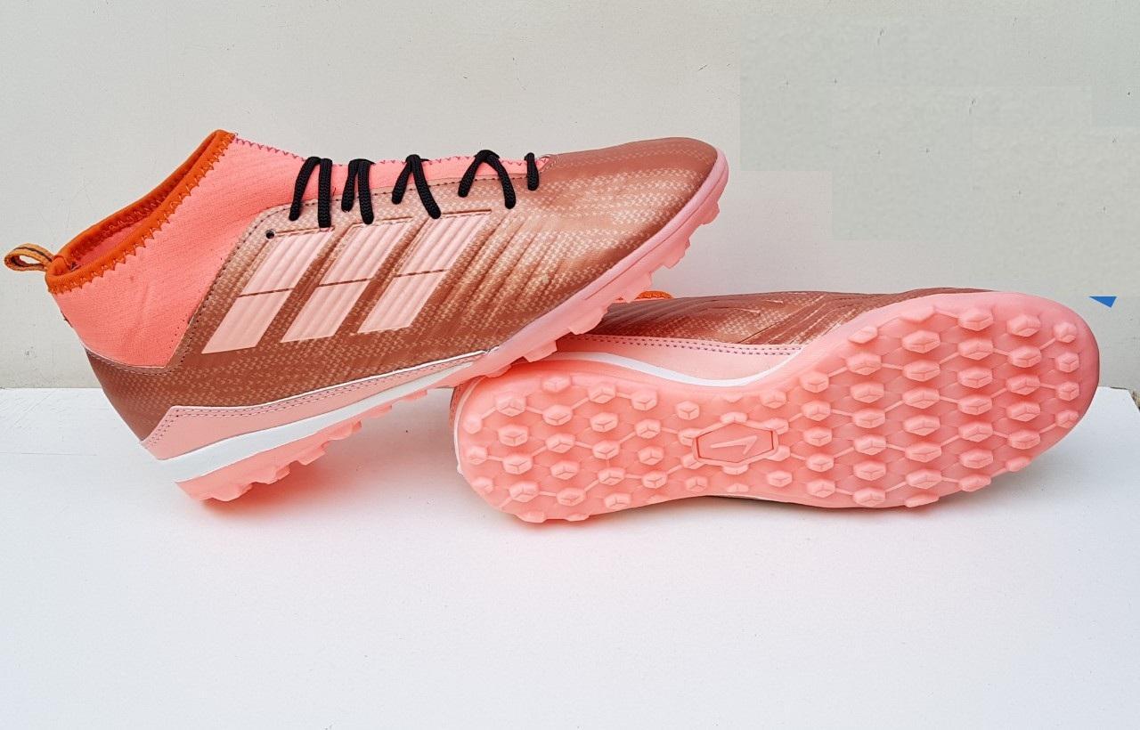 Giày đá bóng cao cổ Predotor hàng cao su - cỏ nhân tạo