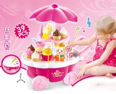 Đồ chơi xe đẩy kem trục xoay có nhạc dành cho bé