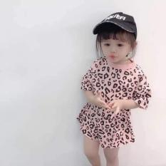 bộ quần áo da beo siêu hót bé gái dáng croptop
