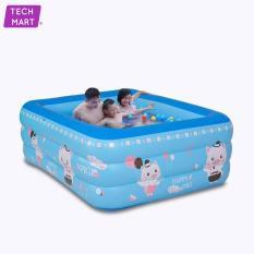 Bể bơi phao cho bé 3 tầng , hồ bơi trẻ em, bồn tắm em bé loại dày chống trượt cho trẻ em.