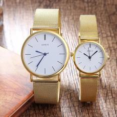 Đồng hồ cặp thời trang nam nữ Geneve dây lưới QA0933