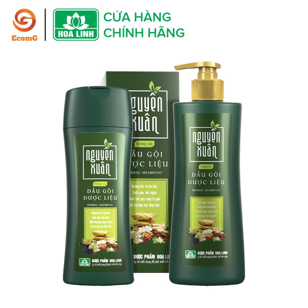 Dầu gội dược liệu Nguyên Xuân xanh – Dầu gội dưỡng tóc, phục hồi hư tổn, cho mái tóc dày, mềm mại, suôn mượt- NX1