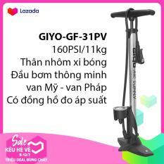 Bơm xe đạp, xe gắn máy GIYO GF-31PV xi bóng -160PSI/11KG -III- SPORTS WORLD SHOP
