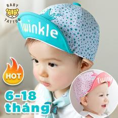 Mũ lưỡi trai hot cho bé trai bé gái in chữ TWINKLE từ 6-18 tháng/ Nón vải cotton mềm, thoải mái cho các bé