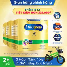 [Siêu thị Lazada] Bộ 3 hộp sữa bột Enfagrow 4 cho trẻ trên 2 tuổi 2.2g (4 túi thiếc 550g) + Tặng 1 xe đạp cực ngầu