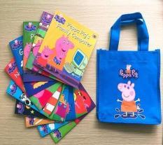 Sách Peppa Pig- 10 cuốn + File nghe – Ảnh thật (Tặng kèm túi)
