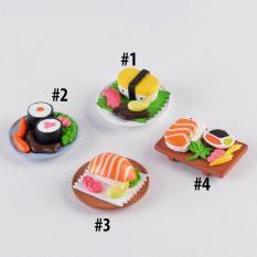 Charm Slime Mô hình đĩa sushi cá HPMCharm Đường kính 4.8 cm