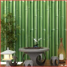 Cuộn 10 mét giấy dán tường cây tre xanh khổ 45cm keo sẵn, giấy dán tường có keo sẵn, giấy dán tường hình cây tre, giấy dán tường có keo sẵn màu xanh, giấy decal dán tường cây tre màu xanh – Lala Mart