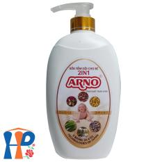 Sữa tắm gội thảo dược cho bé 2 in 1 Arno 800ml