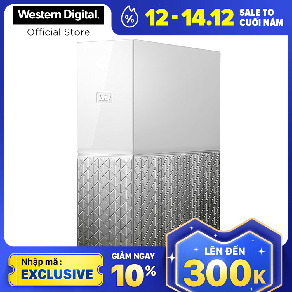 [Nhập mã EXCLUSIVE giảm 10%] Ổ cứng mạng HDD WD My Cloud Home 4TB WDBVXC0040HWT-SESN
