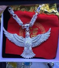 Bộ dây chuyền đại bàng Phú Lê bạc 925 loai to đại cả dây và mặt