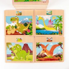 Bảng ghép hình 12 miếng cho bé bằng gỗ – đồ chơi xếp hình gỗ giáo dục