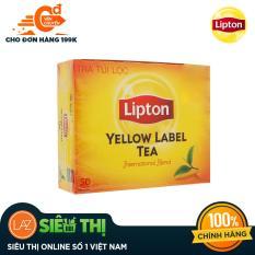 [Siêu thị Lazada] – Trà đen Lipton nhãn vàng hộp 100g (2gram x 50 gói)