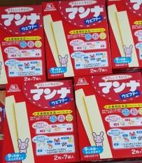 Bánh ăn dặm Morinaga nhập Nhật dạng thanh xốp