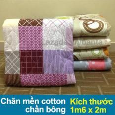 Chăn mền cotton chần bông 1m6 x 2m (giao màu ngẫu nhiên)