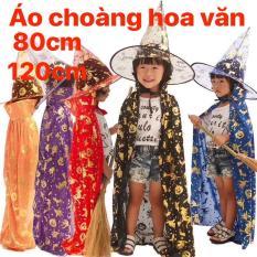 BỘ ÁO CHOÀNG HALLOWEEN + NÓN PHÙ THỦY 80CM – 120CM