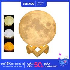 Đèn ngủ mặt trăng Moon Lamp 3D cảm biến đổi màu loại 3 màu Size 20cm – Venado
