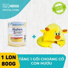 Sản phẩm dinh dưỡng y học Nutren Junior cho trẻ từ 1-10 tuổi 800g + Tặng gối choàng cổ con hươu dễ thương